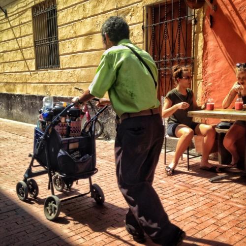 Baby Stroller Drinks Salesman Santa Marta Colombia Colombian Cultural Quirks