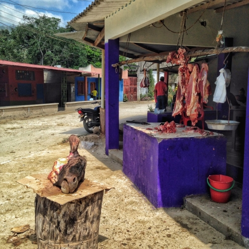 Cows Head Outdoor Butcher Machete Colombia Colombian Cultural Quirks