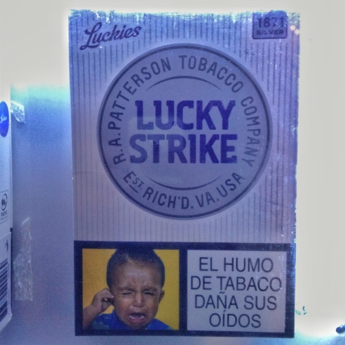 Lucky Strike Health Warning Happy Buddah Medellin Colombian Cultural Quirks
