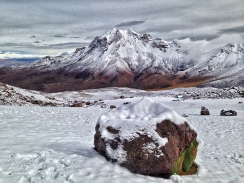 Chachani Mountain Snow Peru
