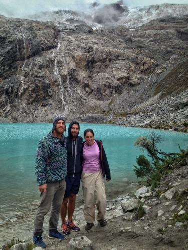 Laguna 69 Trek Hiking Mountains Peru Glacier Blue Water Amy Patrick Andrew