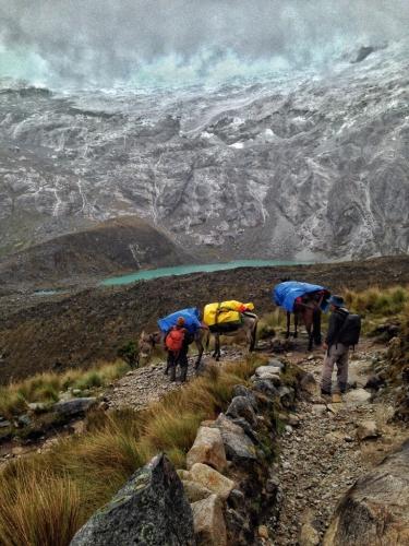 Santa Cruz Trek Hiking Donkeys Mountains Peru