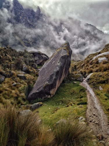 Santa Cruz Trek Hiking Path Mountains Peru