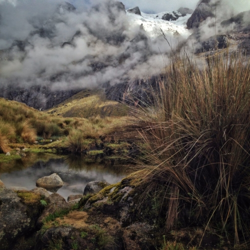 Santa Cruz Trek Hiking Pond Mountains Glacier