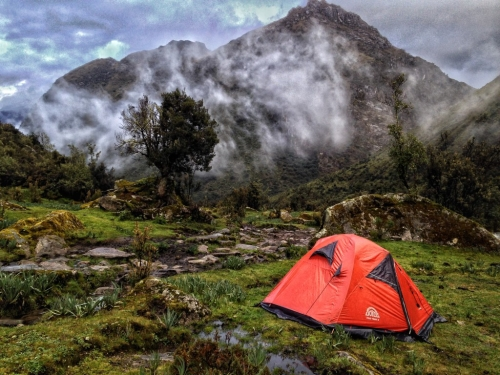 Santa Cruz Trek Hiking Tent Mountain Peru