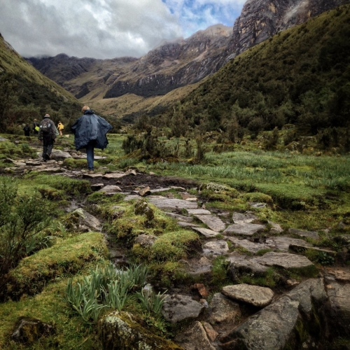 Santa Cruz Trek Hiking Trail Stones Peru