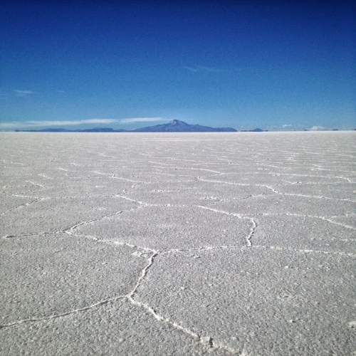 Salar De Uyuni Salt Flats Hexagon Mountain Bolivia