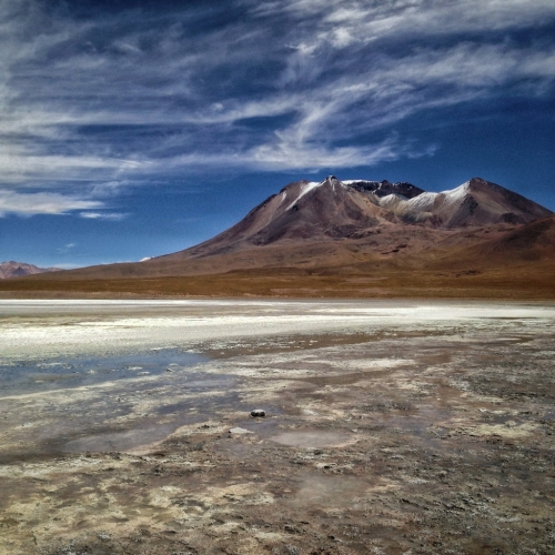 Salar De Uyuni Salt Flats Lake Mountain Bolivia