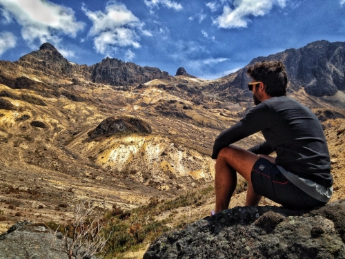 Los Nevados Andrew Schultz Sitting Mountains View Colombia