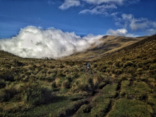 Los Nevados Hiking Trail Clouds Colombia