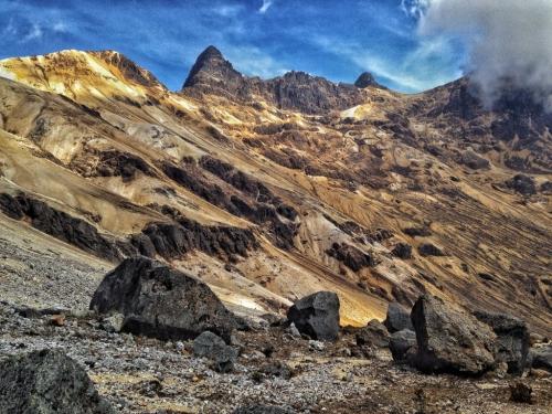 Los Nevados Landscape Mountains Moon