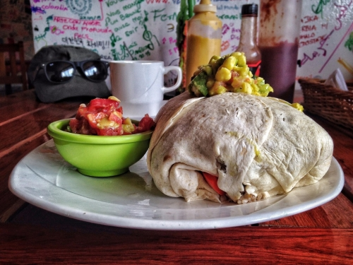 Salento Brunch Burrito Salsa Plate Colombia