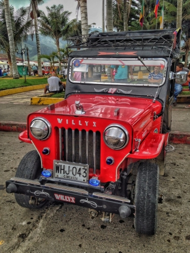 Willys Red Jeep Colombia
